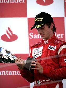 Mirko Bortolotti celebrates on the podium