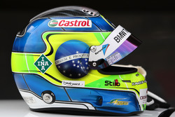 The helmet of Augusto Farfus, BMW Team RBM, BMW 320si