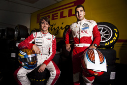 Daniel Morad and Esteban Gutierrez, winners of races 7 and 8 in the GP3 series at Silverstone