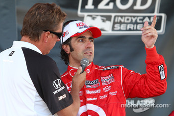 Podium: third place Dario Franchitti, Target Chip Ganassi Racing
