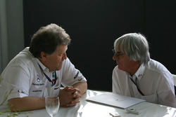 Norbert Haug, Mercedes, Motorsport chief and Bernie Ecclestone interview