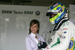 Augusto Farfus BMW Team RBM BMW 320si with his wife Elirane