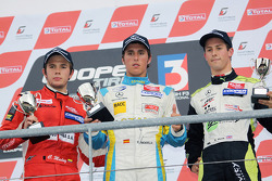 Invitation podium: winner Daniel Juncadella, second place Carlos Munoz, third place Alexander Sims