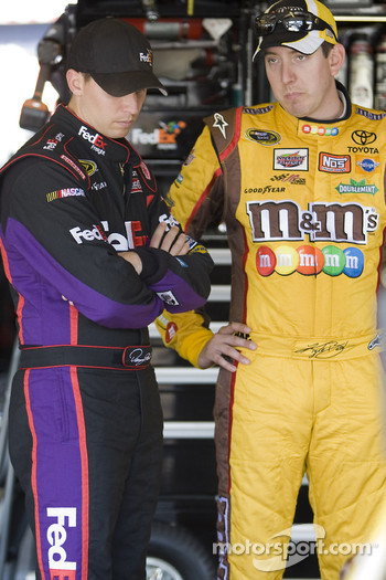 Denny Hamlin, Joe Gibbs Racing Toyota and Kyle Busch, Joe Gibbs Racing Toyota