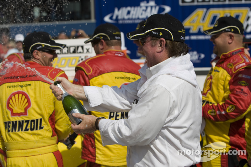 Victory lane: Richard Childress celebrates