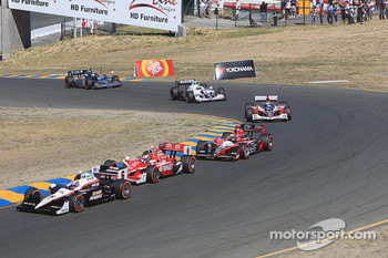 Ryan Briscoe, Team Penske, Scott Dixon, Target Chip Ganassi Racing, Justin Wilson, Dreyer & Reinbold Racing