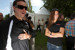 NASCAR Nationwide Series driver Andrew Ranger and NASCAR Canadian Tire Series driver Maryeve Dufault