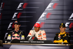 Post-race press conference: race winner Lewis Hamilton, second place Mark Webber, third place Robert Kubica