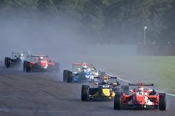 Daisuke Nakajima leads Jean-Eric Vergne
