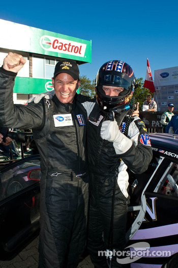 Shane Lewis and Lawson Aschenbach Celebrate their 1st GTC Class Win at The Grand Prix of Mosport