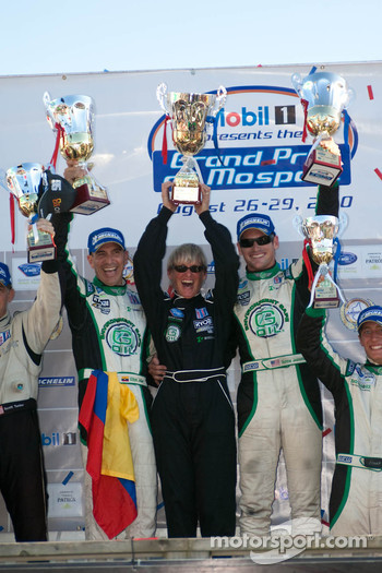 LMPC podium: #99 Green Earth Team Gunnar Oreca FLM09: Gunnar Jeannette