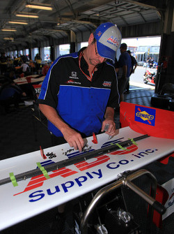 A.J. Foyt Enterprises team member at work