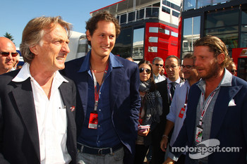 Luca di Montezemolo, Scuderia Ferrari, FIAT Chairman and President of Ferrari, John Elkann,  President of the Fiat Group and nephew Of Gianni Agnelli and Lapo Elkann