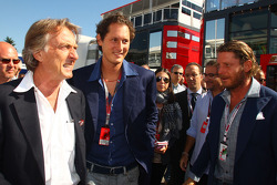 Luca di Montezemolo, Scuderia Ferrari, FIAT Chairman and President of Ferrari, John Elkann,  President of the Fiat Group and nephew Of Gianni Agnelli and Lapo Elkann