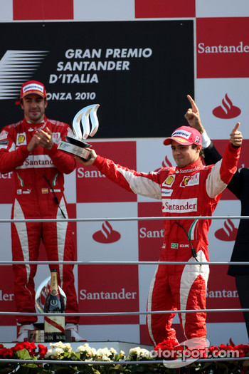 Podium: third place Felipe Massa, Scuderia Ferrari