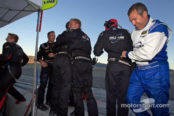 Mark Boden and Fall-Line Motorsports team members celebrate as #48 Fall-Line Motorsports BMW M3 Coupe: Charles Espenlaub, Charles Putman takes the GS championship