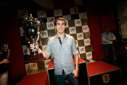Robert Wickens receives the trophy for 2rd overall in the Championship