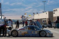 #10 SunTrust Racing Ford Dallara at post-qualifying technical inspection