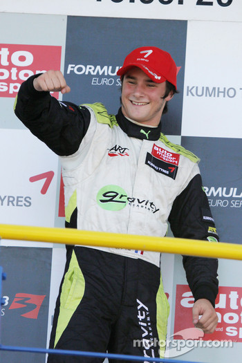 Podium: race winner Jim Pla, ART Grand Prix Dallara F308 Mercedes