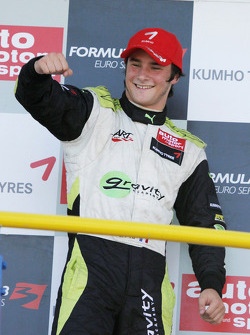 Podium: race winner Jim Pla, ART Grand Prix Dallara F308 Mercedes