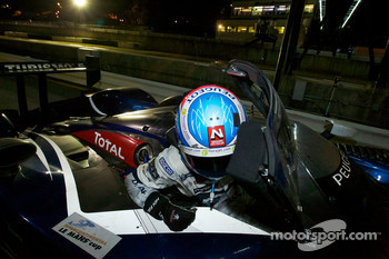 Race winner Stéphane Sarrazin gets out of the car