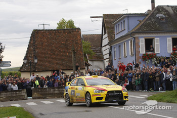 Ott Tanak and Kuldar, Mitsubishi Lancer Evo X, Pirelli Star Driver