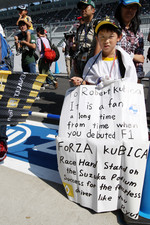 A young fan of Robert Kubica, Renault F1 Team