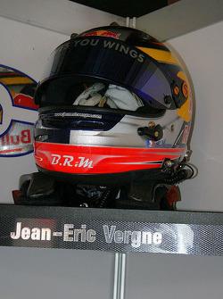 Jean-Eric Vergne's helmet corner