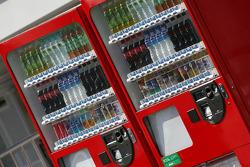 Paddock atmosphere, vending machines