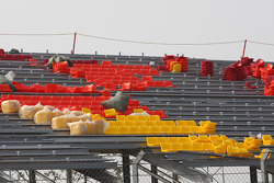 Finishing touches are made to the circuit and grandstands