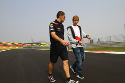 Sebastian Vettel, Red Bull Racing walking the track