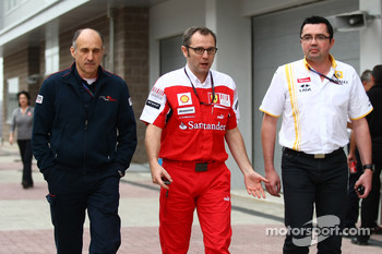 Franz Tost, Scuderia Toro Rosso, Team Principal with Stefano Domenicali Ferrari General Director and Eric Boullier, Team Principal, Renault F1 Team