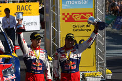 Podium: third place Daniel Sordo and Diego Vallejo, Citroën C4 Citroën Total World Rally Team