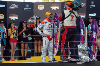 Podium: Andy Priaulx, highest placed international driver