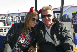 Miss Coors Light gets into the Halloween spirit as she poses with a crew member