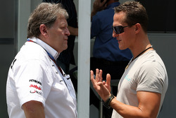 Norbert Haug, Mercedes, Motorsport chief, Michael Schumacher, Mercedes GP