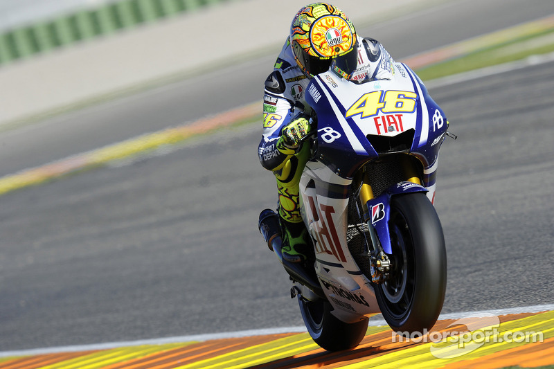 valentino rossi fiat yamaha team le grand prix de valence photos motogp. Black Bedroom Furniture Sets. Home Design Ideas