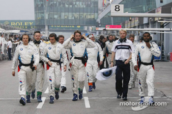 BMW Team Schnitzer team members head to podium