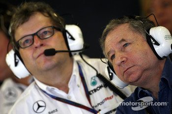 Norbert Haug, Mercedes, Motorsport chief, Jean Todt, FIA president