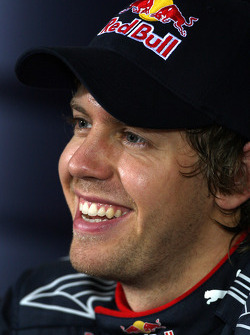 Press conference: pole winner Sebastian Vettel, Red Bull Racing