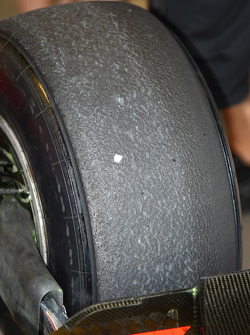 Tire wear on the Pirelli