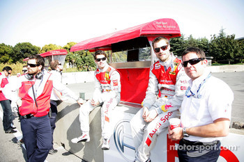 Miguel Molina, Audi Sport Rookie Team Abt, Audi A4 DTM, Martin Tomczyk, Audi Sport Team Abt Audi A4 DTM and Albert Deuring Audi Team Abt Sportline