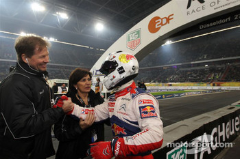 Second place Sébastien Loeb with ROC organisers Frederik Johnson and Michèle Mouton