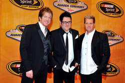 Joe Don Rooney, Jay DeMarcus and Gary LeVox of Rascal Flatts attend the NASCAR Sprint Cup Series awards banquet at the Wynn Las Vegas Hotel