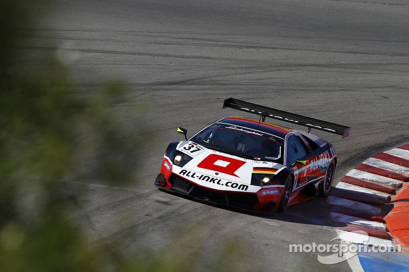 #37 All-Inkl.com Münnich Motorsport Lamborghini Murcielago R: Marc Basseng, Ricardo Risatti