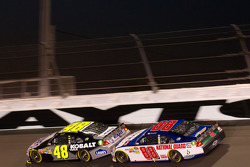 Jimmie Johnson, Hendrick Motorsports Chevrolet and Dale Earnhardt Jr., Hendrick Motorsports Chevrolet