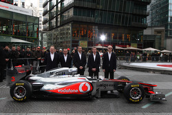 Neil Oatey, McLaren, Executive Director Engineering, Paddy Lowe McLaren Engineering Director, Jonathan Neale, McLaren, Tim Goss, McLaren, Simon Roberts McLaren