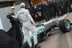 Michael Schumacher, Mercedes GP F1 Team and Nico Rosberg, Mercedes GP F1 Team