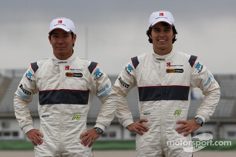 Kamui Kobayashi, Sauber F1 Team, Sergio Perez, Sauber F1 Team