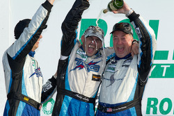GT podium: class winners Spencer Pumpelly, Andy Lally  and Steven Bertheau